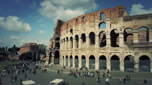 Flavian Amphitheater Coliseum of Rome HD Video