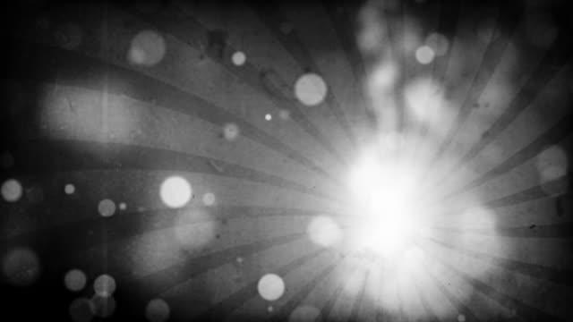 Flackernde Grunge-Teilchen Loop-Schwarz & Weiß (Full HD