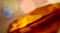 LOOPABLE: Flickering lights around an amber diamond