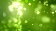 Flickering Particles Background Loop - Green (Full HD)