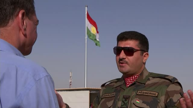 Flight ban after Kurdish freedom vote NORTHERN IRAQ Iraqi Kurdistan Sirwan Barzani interview SOT we want to have a democratic state in this area/...