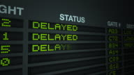 Flight Information Board - Delayed