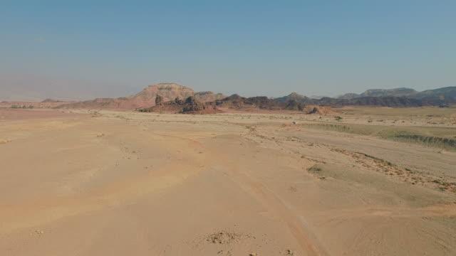 Vlucht over woestijn
