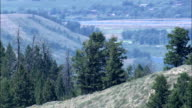 Flight Over Escarpment - Aerial View - Wyoming,  Teton County,  helicopter filming,  aerial video,  cineflex,  establishing shot,  United States