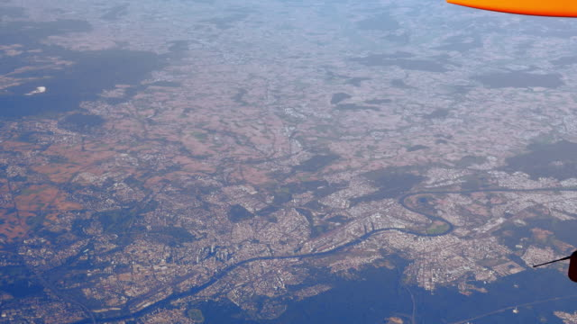 AERIAL POV Flight Over Frankfurt Am Main And Offenbach (UHD)