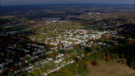 Flight Over Hartford Suburbs  - Aerial View - Connecticut,  Hartford County,  United States