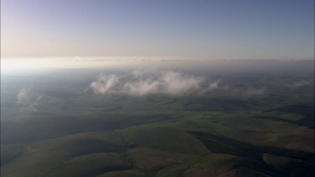 Flight Over Small Cloud Over Dumfries And Galloway