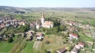 Flight over the fortified church in Cincu