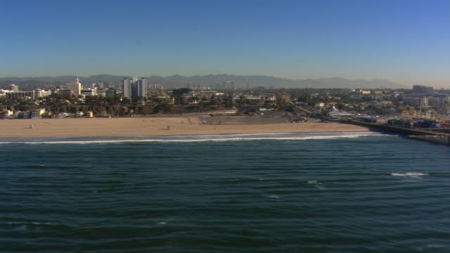 Flight paralleling beach to Santa Monica Pier. Shot in 2008.