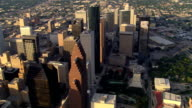Flight past downtown Houston high-rises in afternoon light. Shot in 2007.