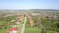 Flight towards the fortified church in Cincu, Brasov