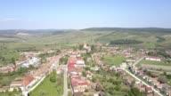 Flight towards the fortified church in Cincu