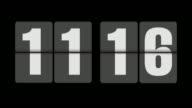 Flip clock 11-12 o'clock