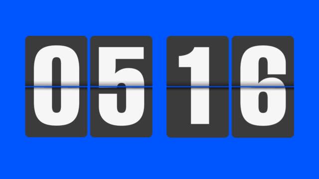 Flip clock 5-6 o'clock