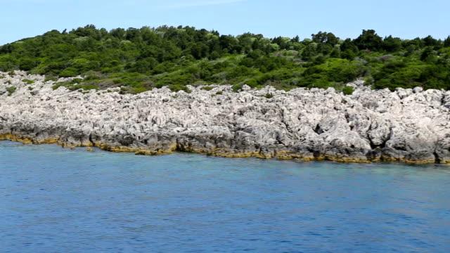 Float near tropical island