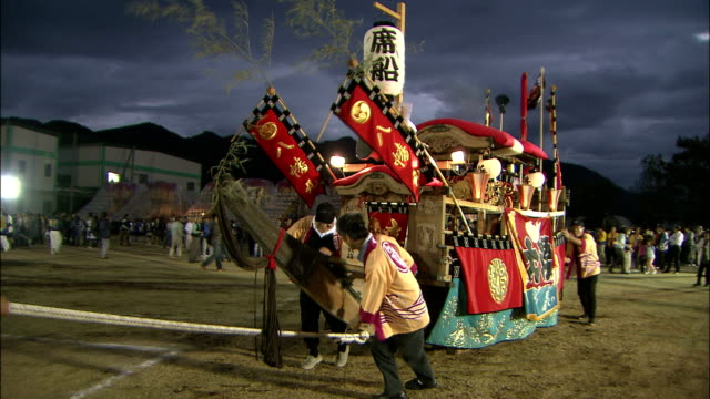 Float of ship called 'Karabune' at festival, Japan