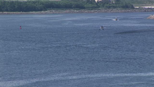 WS, Float plane taking off from water, Ketchikan, Alaska, USA
