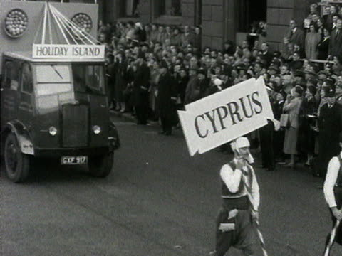 A float representing Cyprus takes part in Lord Mayor's show