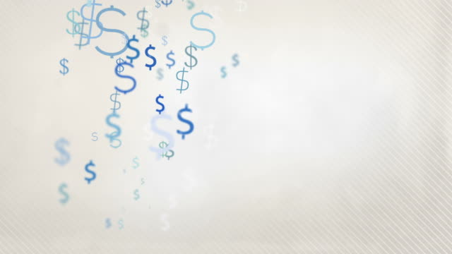 Floating Dollar Symbols Background Loop Pastel Blue Hd ...