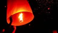 Floating lanterns in Thailand