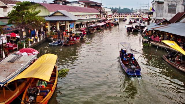 Floating market. Bangkok