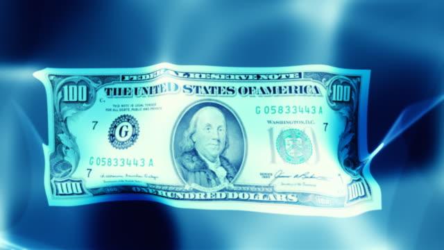 Floating money, dollar. Loop