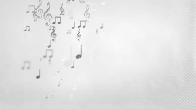 Floating Musical Notes - Simple Grey (Full HD)