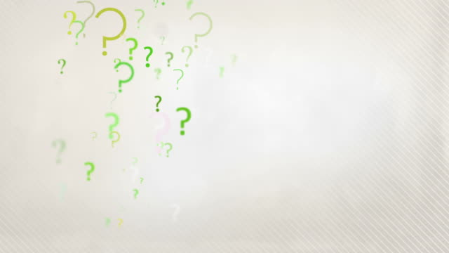 Floating Question Marks Background Loop - Pastel Green HD