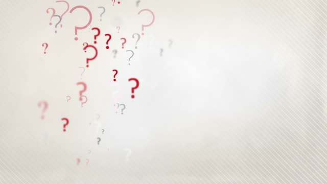 Floating Question Marks Background Loop - Pastel Red & Black HD