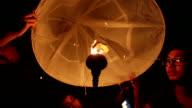 Floating Sky lantern in Yee Peng Festival.