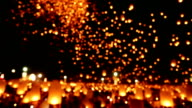 Floating Sky Lantern Traditional Festival