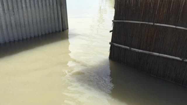 Flood water in a village in Gaibandha Bangladesh August 19 2017
