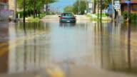 Flooded Car Under Arch - Long Shot
