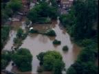 Air views of Eynsham Evesham and Tewkesbury Gloucestershire Tewkesbury VIEWs of flooded fields / AIR VIEWs of flooded Tewkesbury town including...