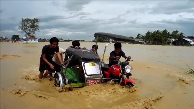 Flooding hits the Philippines as deadly Typhoon Koppu the second strongest storm to hit the disaster plagued Southeast Asian archipelago this year...