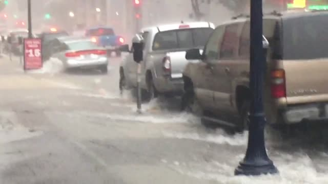 Flooding on the streets of National City