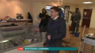 Respite allows people to concentrate on clean up SCOTLAND Dumfries Whitesands INT Reporter LIVE to camera Kaseem Saleem LIVE interview SOT Reporter...