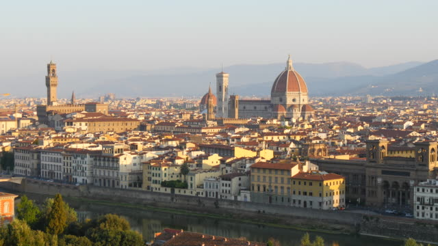 Florence skyline at sunset, Florence, Italy