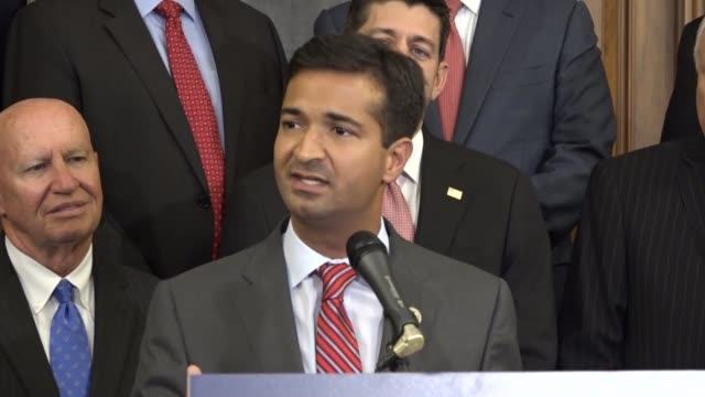 Florida Congressman Carlos Curbelo says at a press conference with Congressional Republicans that a unified framework for tax reform that it is an...