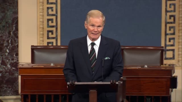 Florida Senator Bill Nelson reports on a call with Broward County Sheriffs Department and chief executive of the Spirit Airlines after video of a...