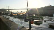 Flounders hang to dry in the sun at Onomichi harbor.