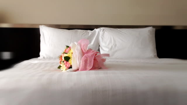 Flower on he bed