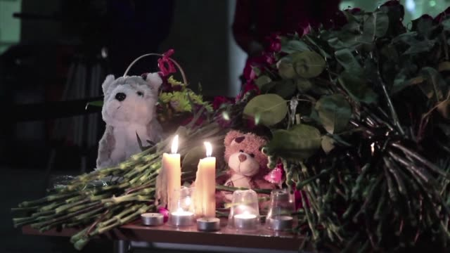 Flowers are laid and candles lit at Saint Petersburg airport after a Russian airliner carrying 224 people crashed in a mountainous area of Egypts...