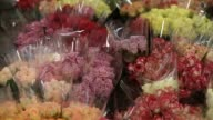 Flowers for sale on Valentine's Day at Sydney Flower Market on February 14 2013 in Sydney Australia Due to an unusually hot January in Australia an...