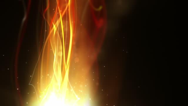 Fließende Licht Streifen Hintergrund Loop-Fiery Red vertikale HD