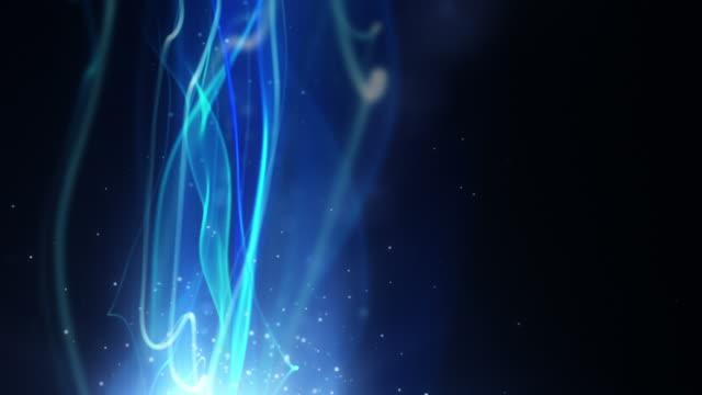 Fließende Licht Streifen Hintergrund Loop-Neon Blue vertikale HD
