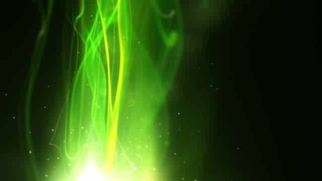 Fließende Licht Streifen Hintergrund Loop-Neon grüne vertikale HD