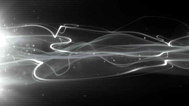 Flowing Light Streaks Background Loop - Silver Streak (Full HD)