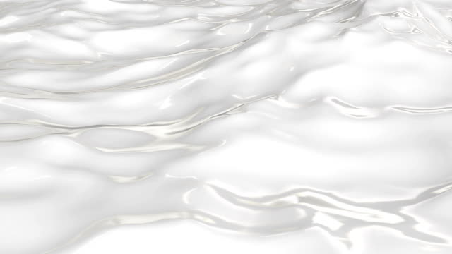Flowing milk close up