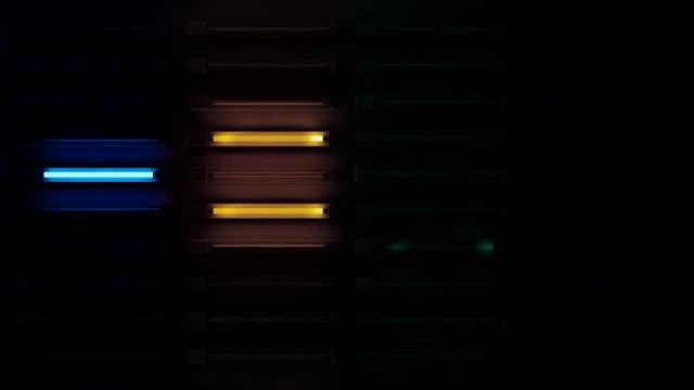 Fluro Light Wall Background Loop - Rainbow Glow (Full HD)